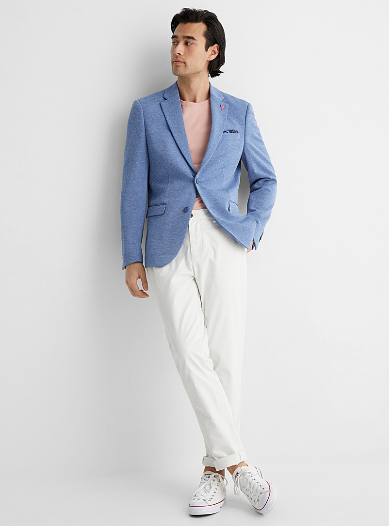 Le 31 Blue Chambray caviar jacket Slim fit for men