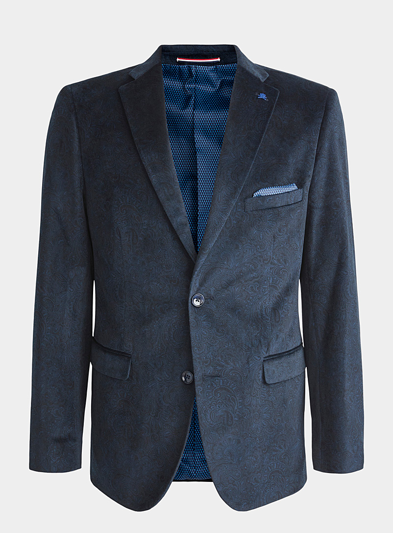 Paisley velvet jacket  Semi-slim fit