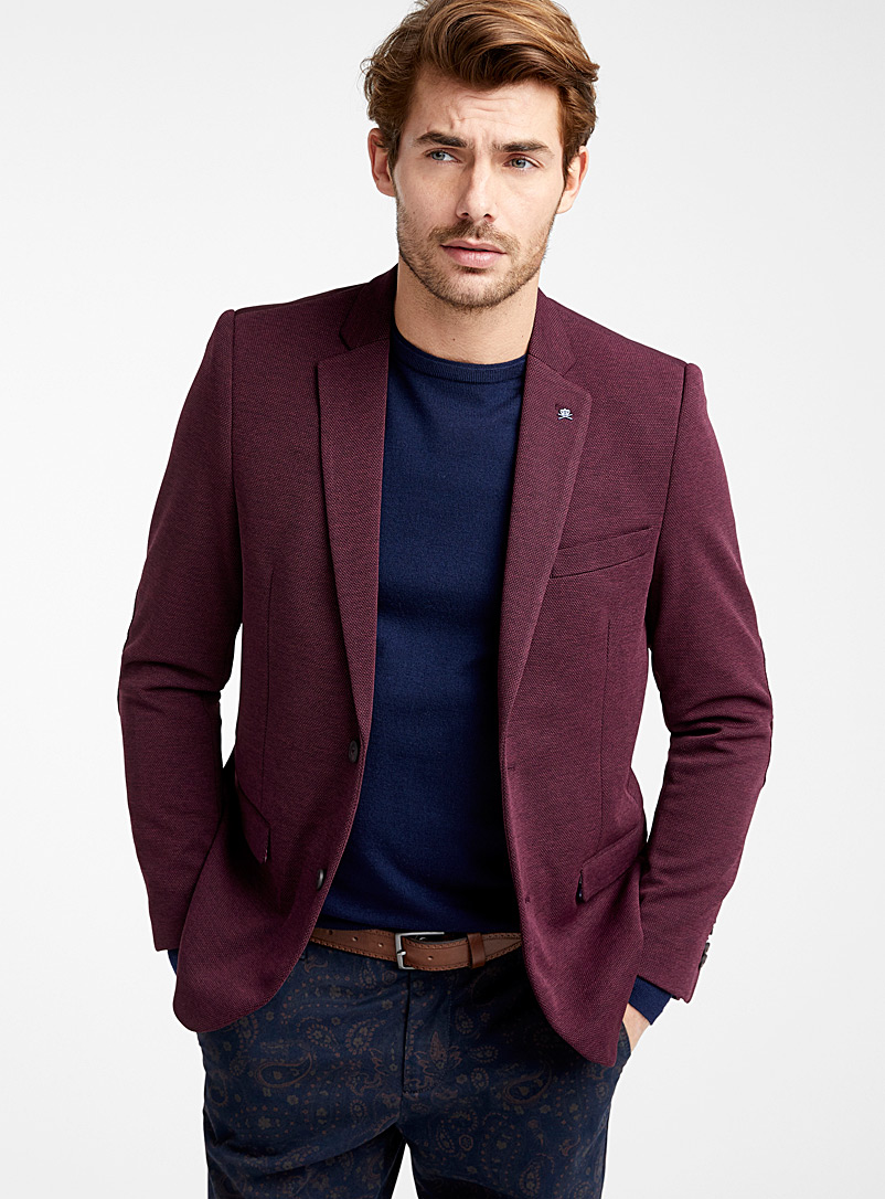 two-tone-pique-knit-jacket-br-semi-slim-fit