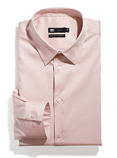 Le 31 Pink Frozen granita shirt  Modern fit for men