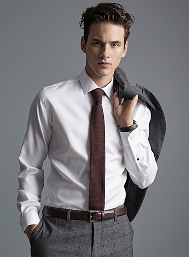 Piqué executive shirt  Semi-tailored fit