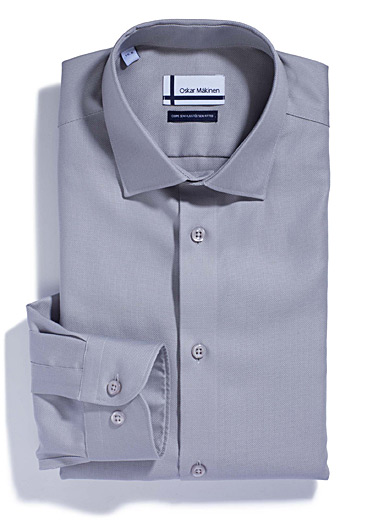 Piqué executive shirt <br>Semi-tailored fit