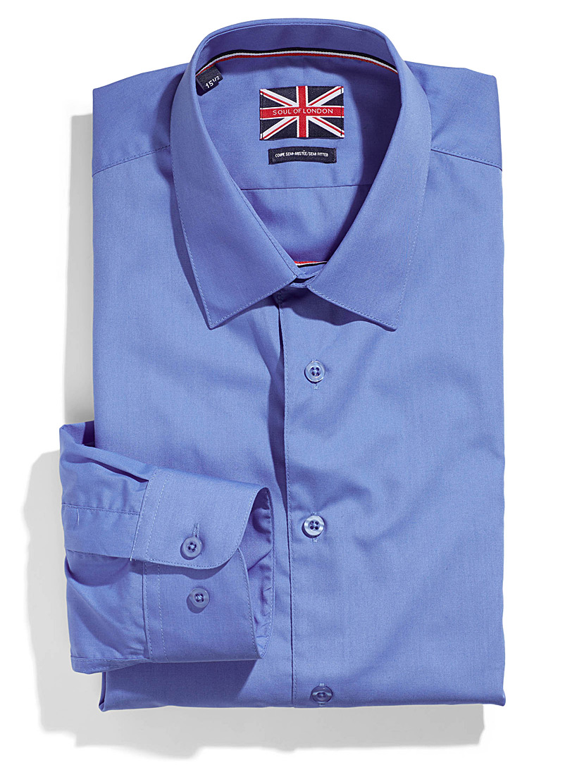 Solid essential shirt  Semi-tailored fit   - Modern fit - Baby Blue