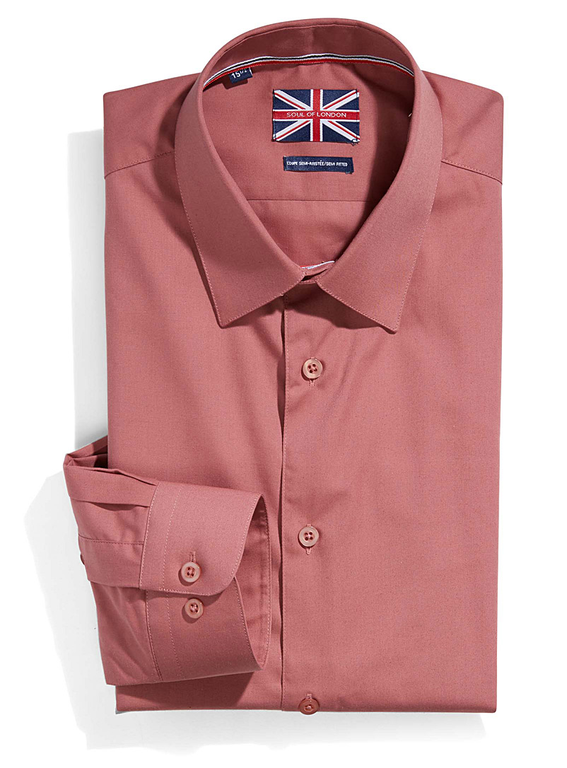 Solid essential shirt  Semi-tailored fit   - Semi-tailored fit - Pink