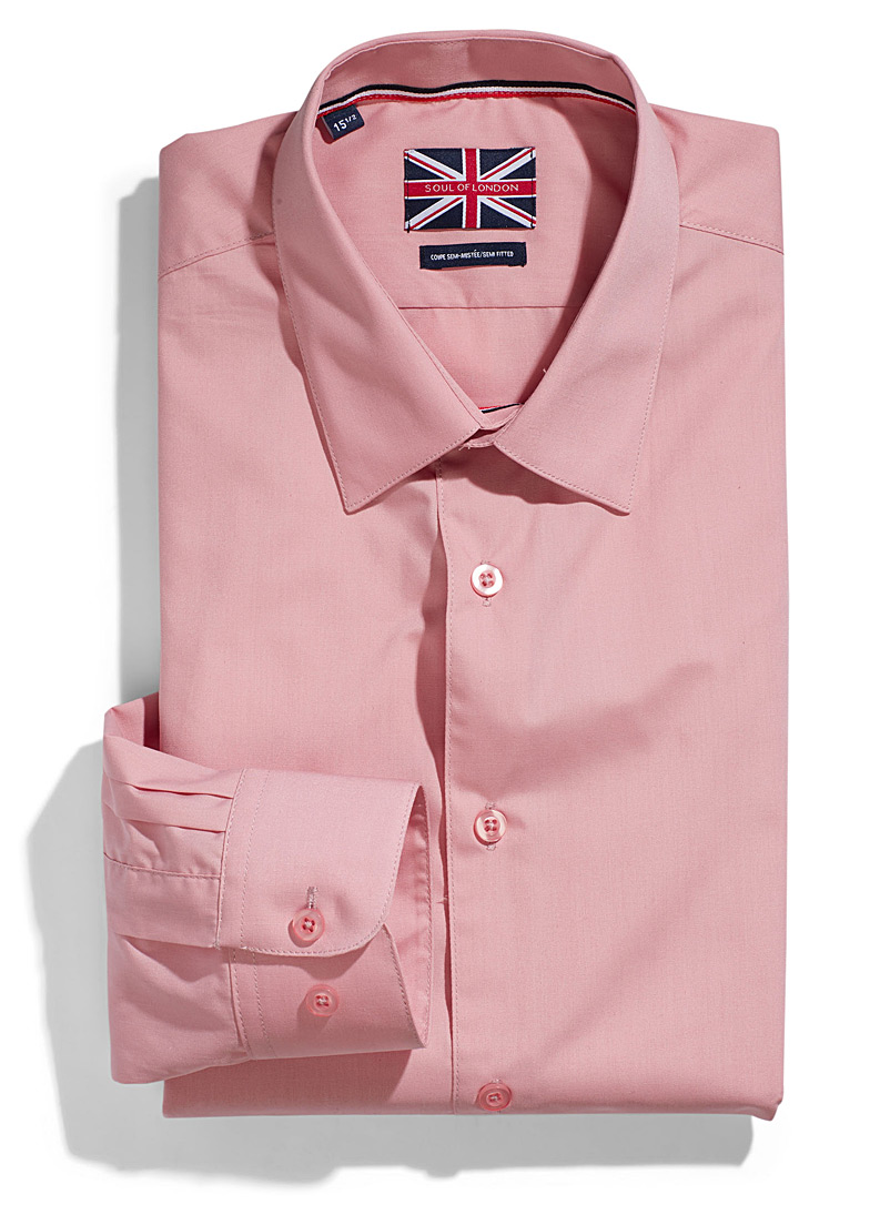 Solid essential shirt  Semi-tailored fit   - Semi-tailored fit - Patterned Red