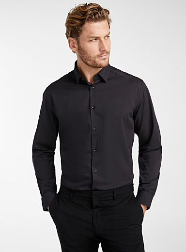 Minimalist stretch shirt <br>Semi-tailored fit