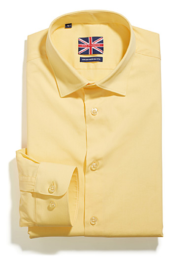 Colourful stretch shirt <br>Semi-tailored fit