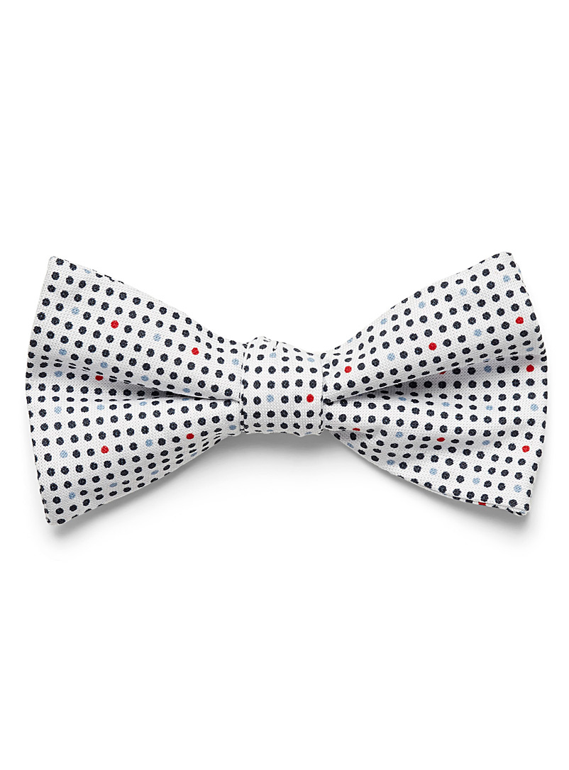 Sailor dots bow tie - Bow Ties - Patterned White