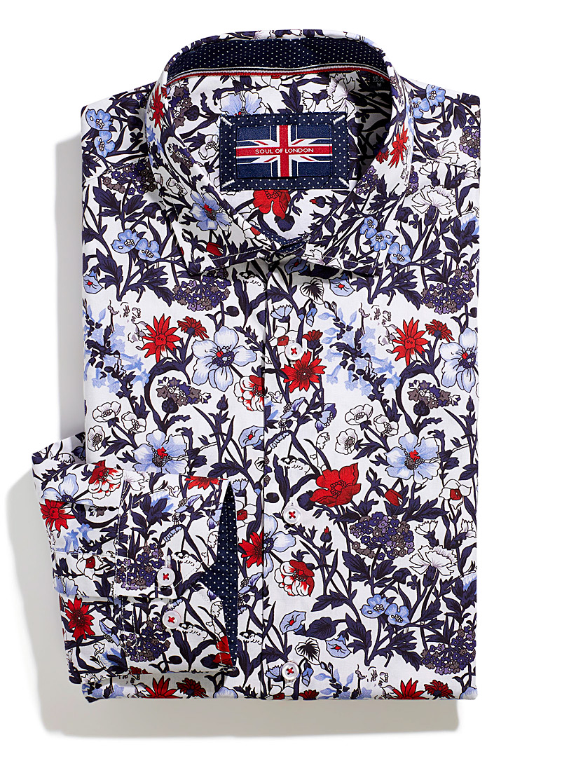 Soul of London Assorted Wildflower shirt Modern fit for men