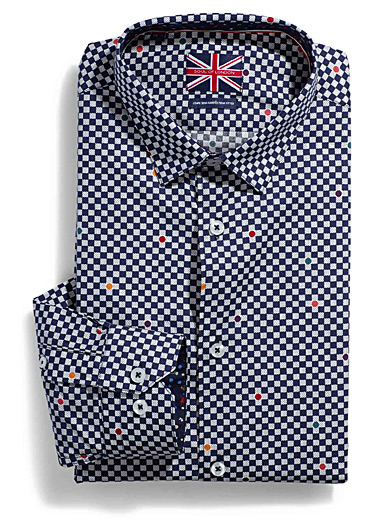 Dotted checker shirt  Semi-tailored fit