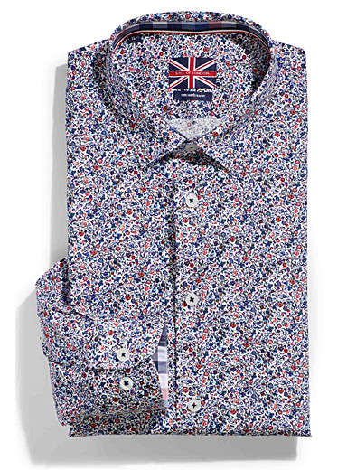 Floral drawing shirt  Tailored fit
