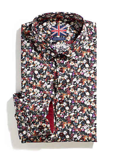 Floral bouquet shirt  Semi-tailored fit