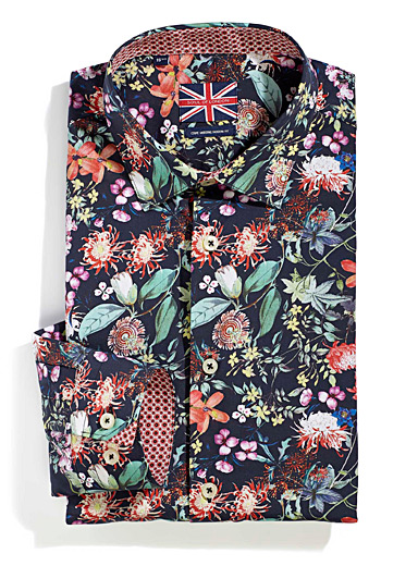 Le chemise bouquet tropical  Coupe moderne