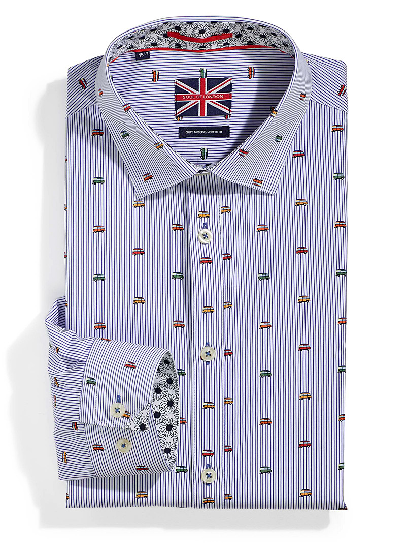 Road trip shirt  Modern fit - Modern Fit - Patterned White