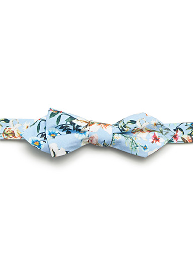 Floral sky bow tie