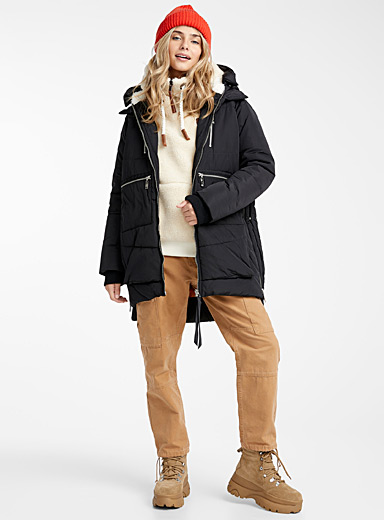 Quilted zip-pocket parka
