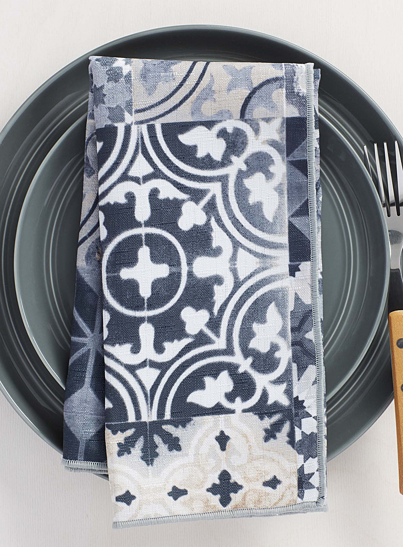 Grenada tile napkin - Matching - Assorted