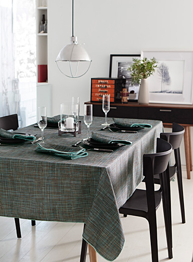 Urban-weave printed tablecloth