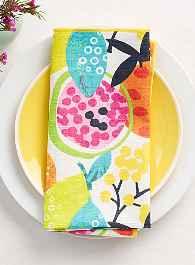 Tropical cocktail napkin