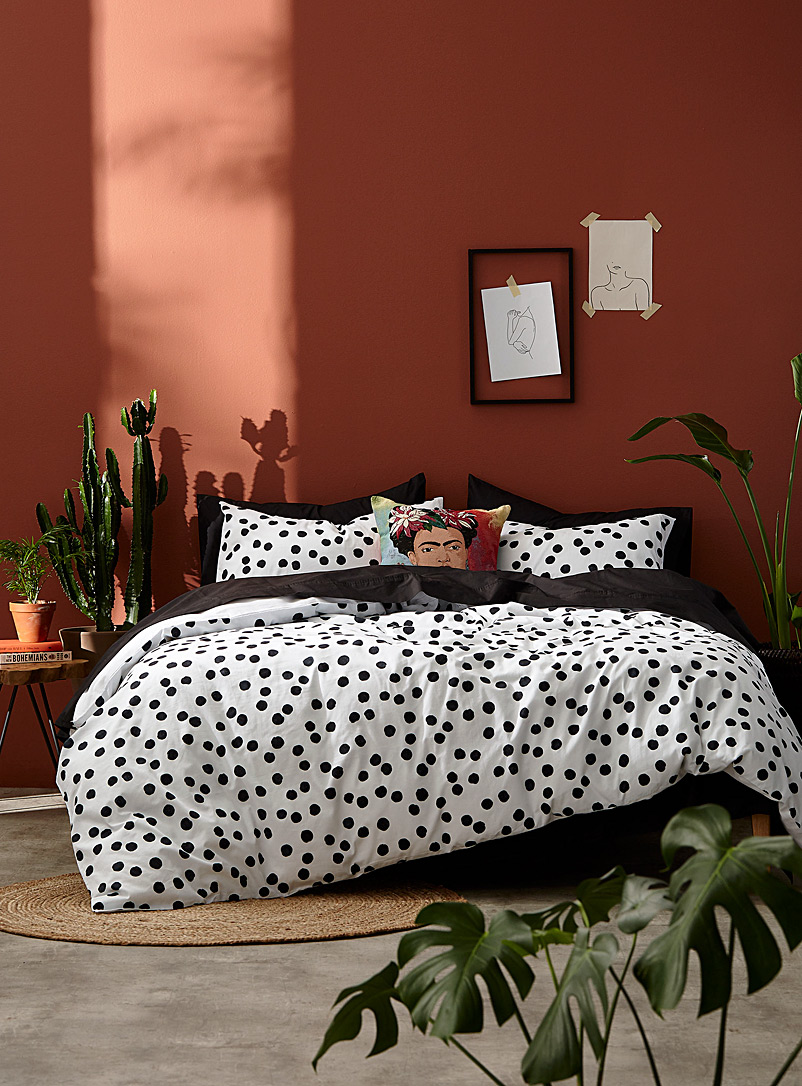 Simons Maison White Imperfect dot duvet cover set