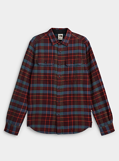 The North Face Brown Check flannel overshirt for men
