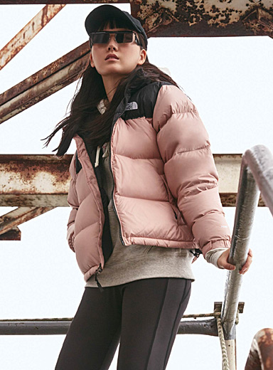 Colour block Nuptse jacket  Relaxed fit