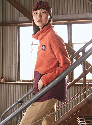 Colour block funnel-neck sweatshirt