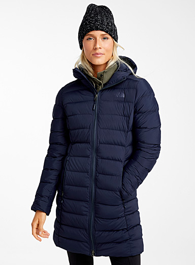 Long quilted parka  Fitted style