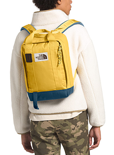 The North Face Light Yellow Tote backpack for women