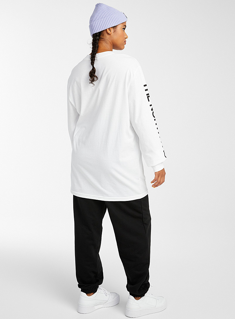The North Face White Long sleeve logo T-shirt for women