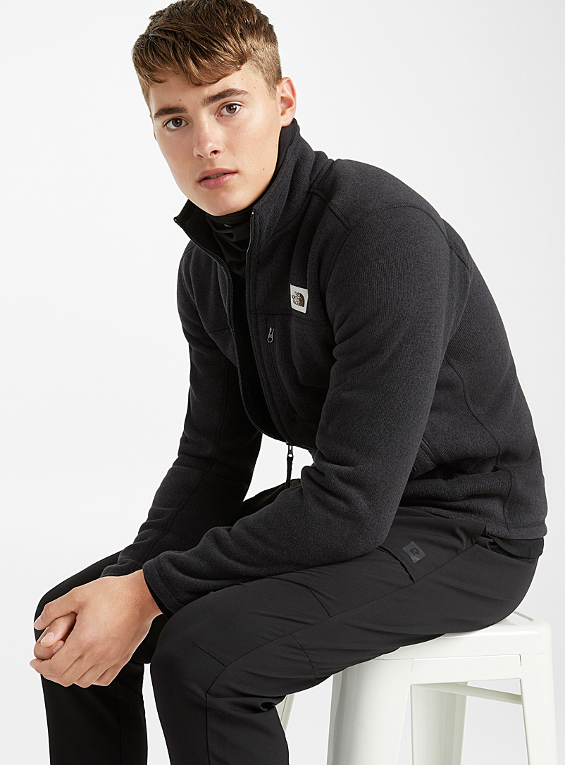 The North Face: La veste tricot revers polaire Gordon Lyons Noir pour homme