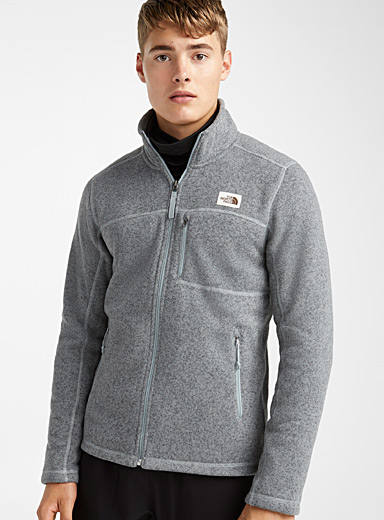 The North Face Charcoal Gordon Lyons fleece-lined knit jacket for men