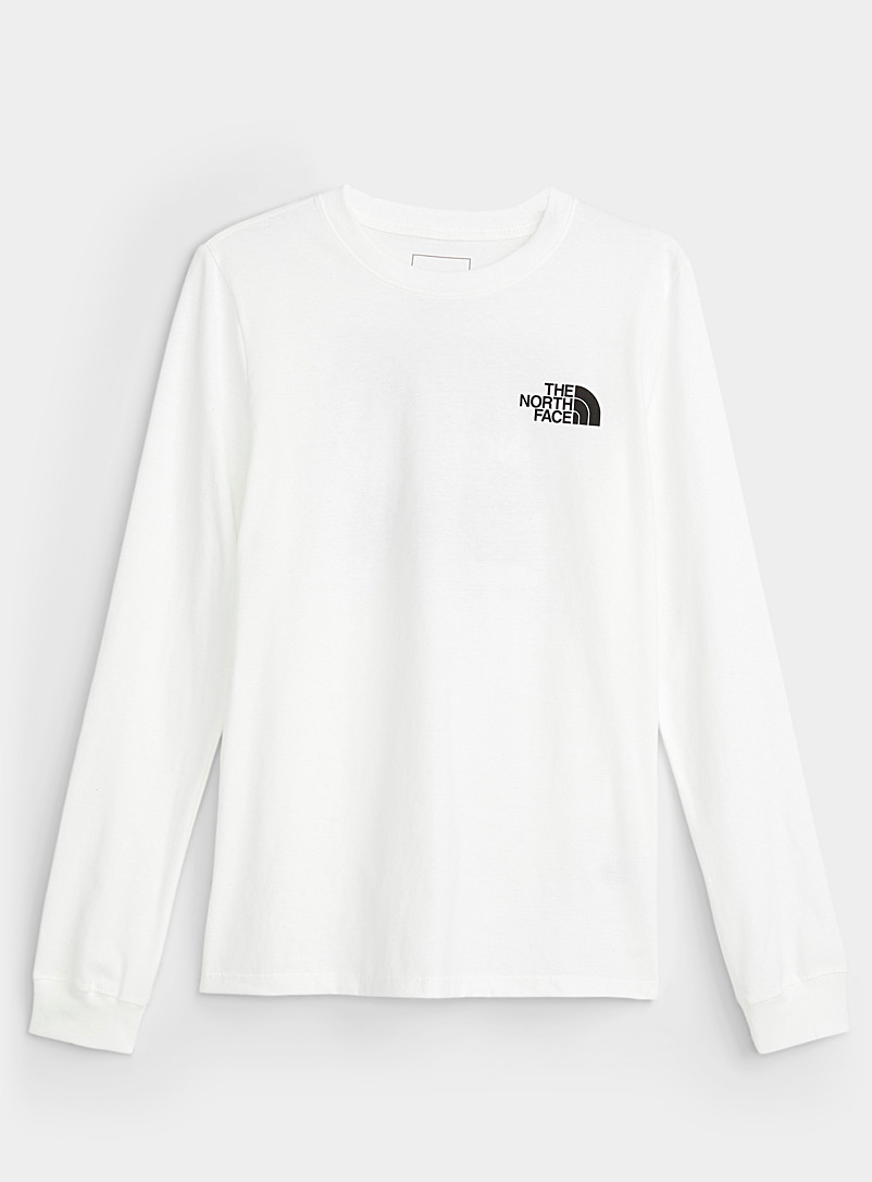 The North Face White Black Box loose T-shirt for women