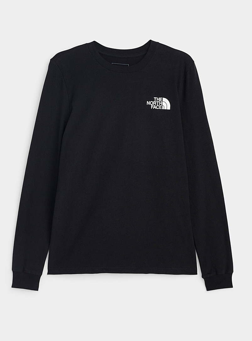 The North Face: Le t-shirt White Box Noir pour femme