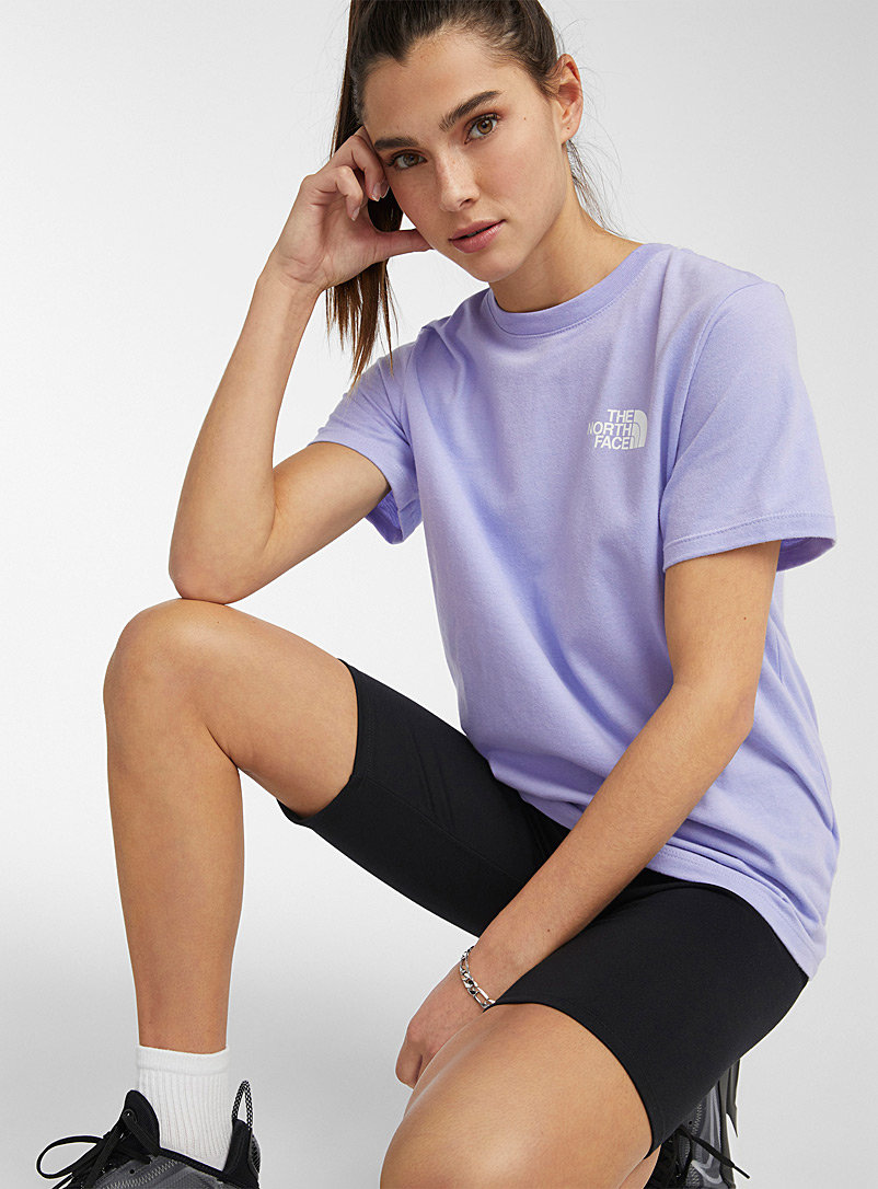 The North Face: Le t-shirt Red Box manches courtes Lilas pour femme
