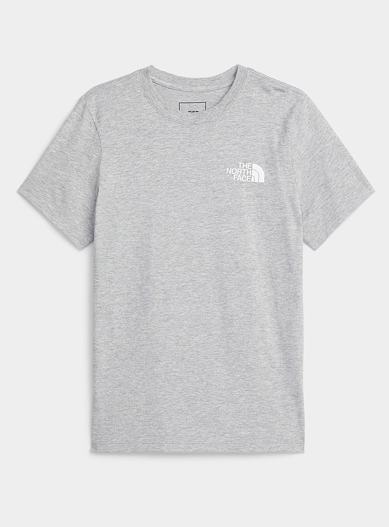 The North Face Light Grey Red Box short-sleeve tee for women