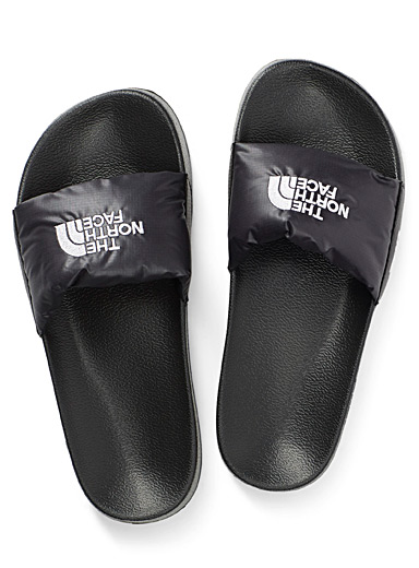 The North Face Black Nuptse slides for women