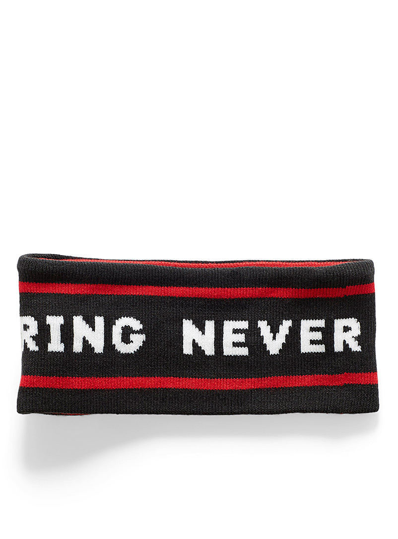 The North Face Red Chizzler slogan headband for men