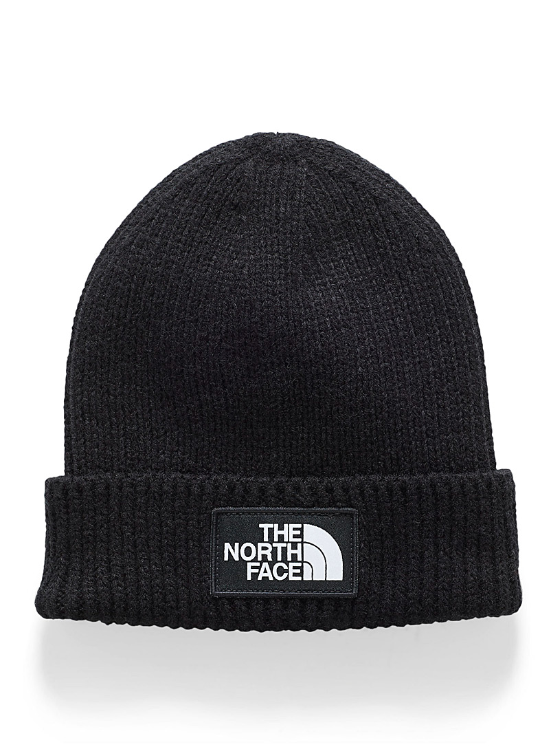 The North Face Black Classic logo cuffed tuque for men