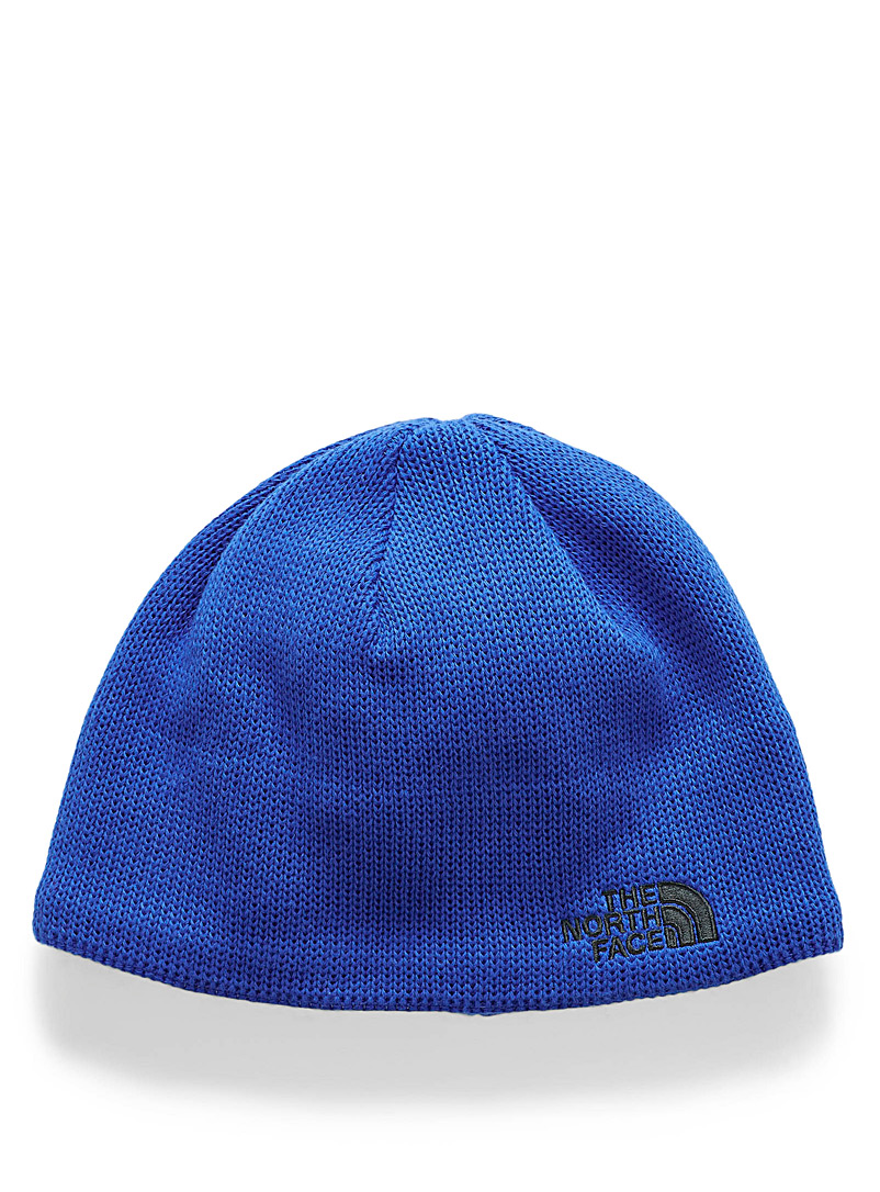 The North Face: La tuque maille recyclée Bones Bleu pour homme