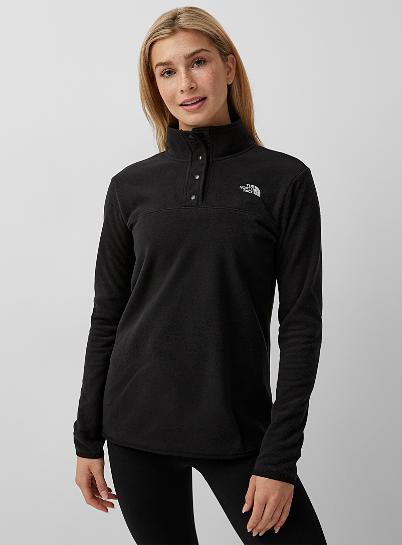 Minimalist high neck fleece - Jackets - Black