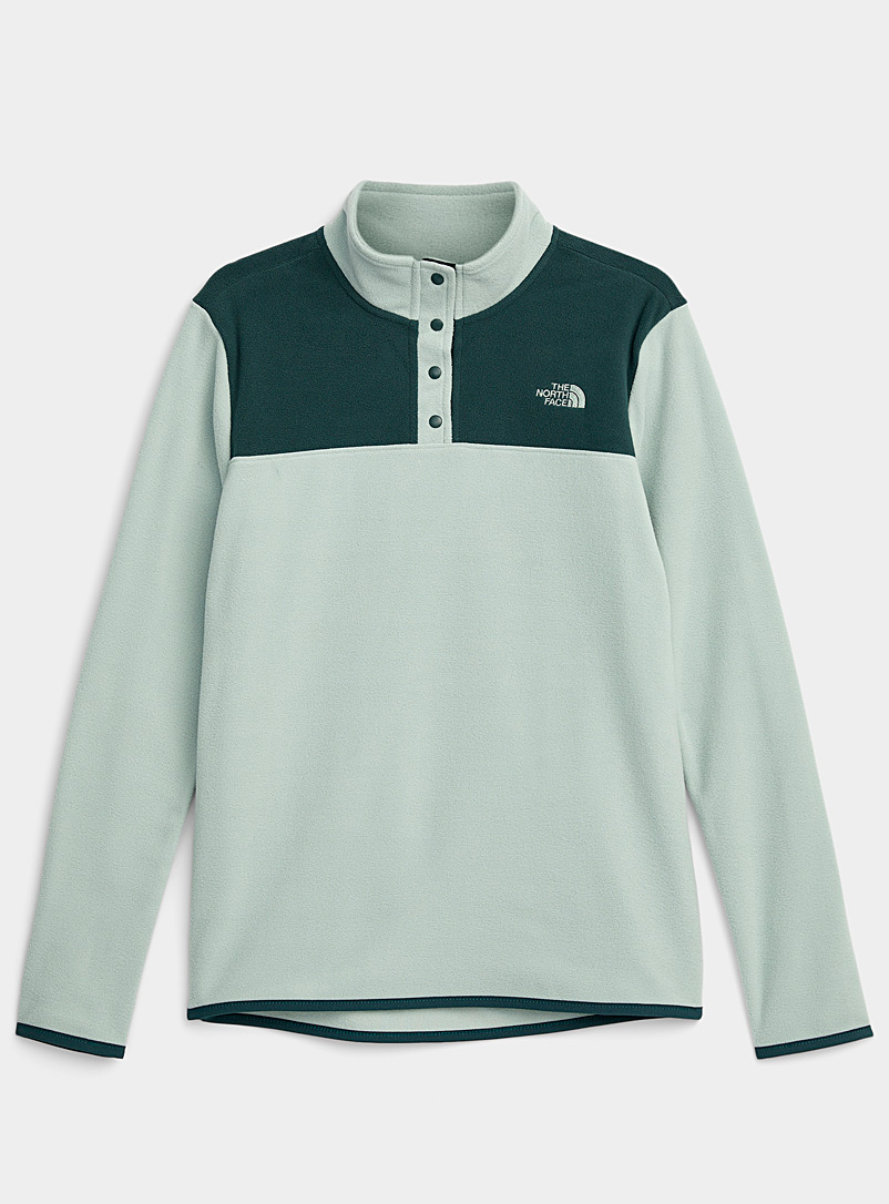 The North Face Green Minimalist high neck fleece for women