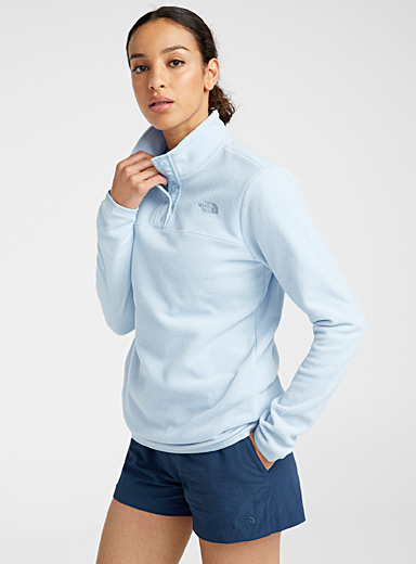 The North Face Baby Blue Minimalist high neck fleece for women