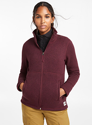 Crescent kinit and fleece heathered jacket