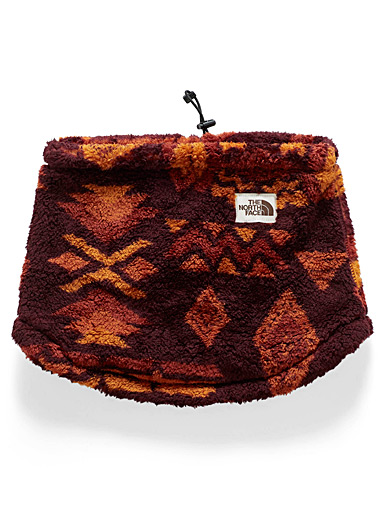 Print sherpa neck warmer
