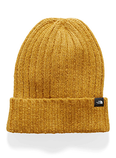 Chunky heathered knit tuque