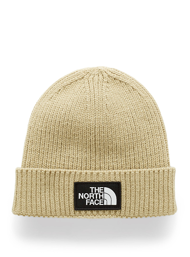 The North Face Black Ribbed short cuff tuque for women
