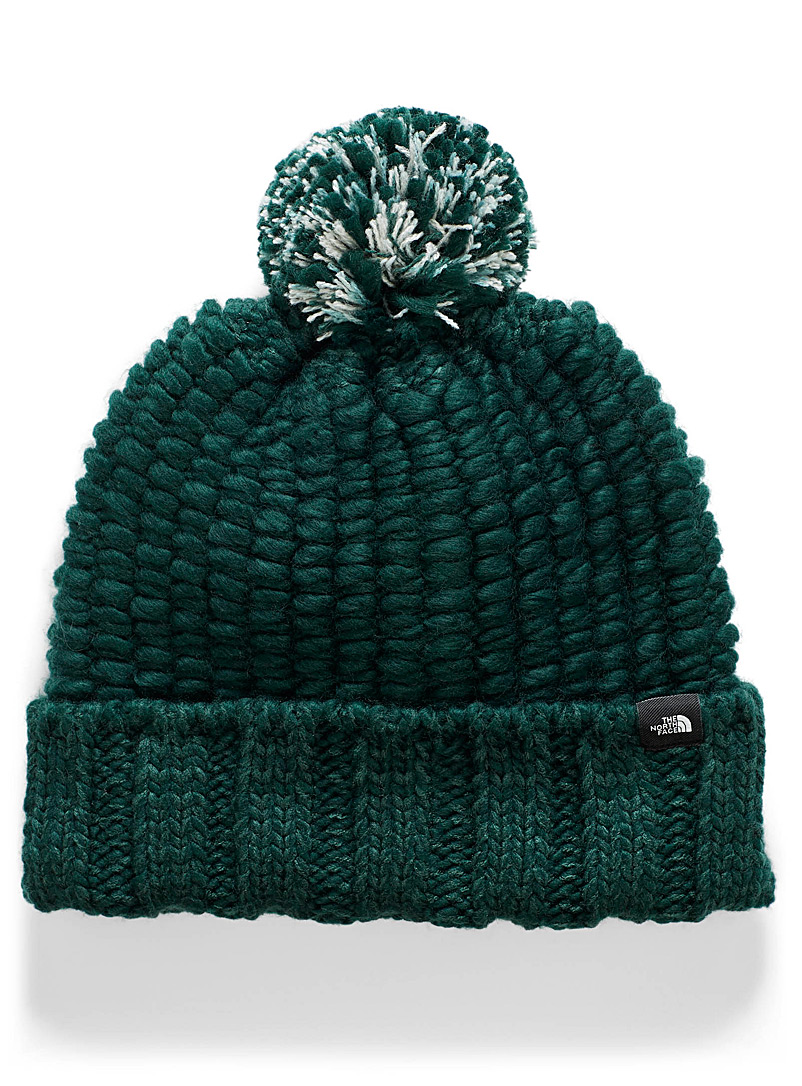Pompom and bubble knit tuque - Tuques & headbands - Mossy Green
