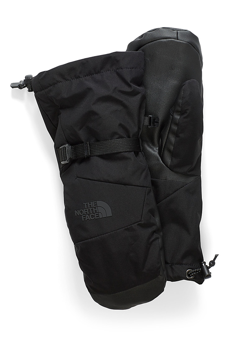 The North Face Black Montana half-arm mittens for women