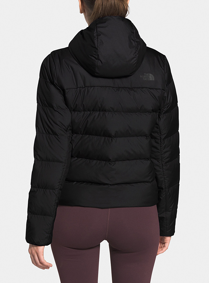 The North Face Black Hyalite cropped puffer jacket  Boxy style for women
